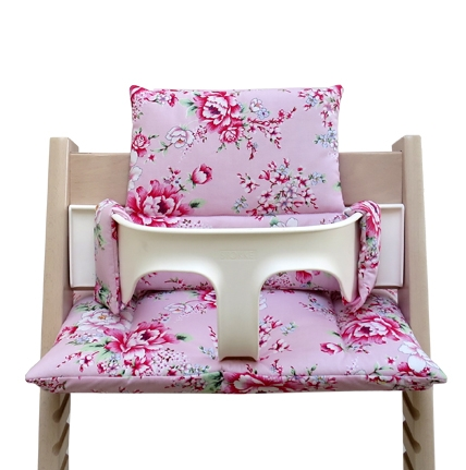 Stokke Tripp Trapp Sitzkissen Set Rosa Happy Flower